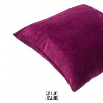 cuscino arredo viola in velluto