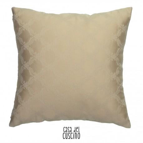 Ottocento, cuscino arredo beige dorato fantasia