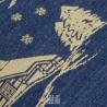 Nordend cuscino arredo blu con motivi natalizi beige