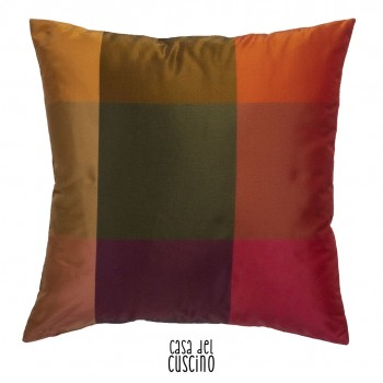 Cody, cuscino arredo a quadri multicolor