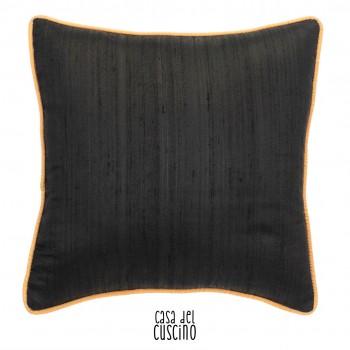 Maia cuscino arredo double-face arancione e nero