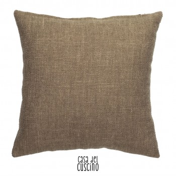 Atacama cuscino arredo tortora naturale in misto lino