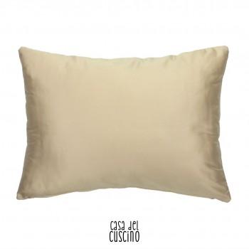 Cuscino rettangolare bianco avorio in misto seta
