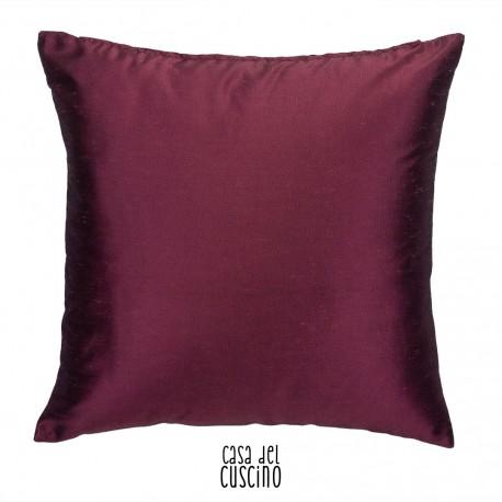 Cuscino viola tinta unita