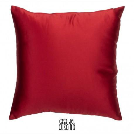 cuscino rosso tinta unita in raso