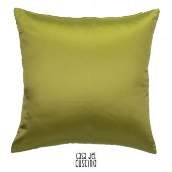 Cuscino arredo in raso di seta verde acido