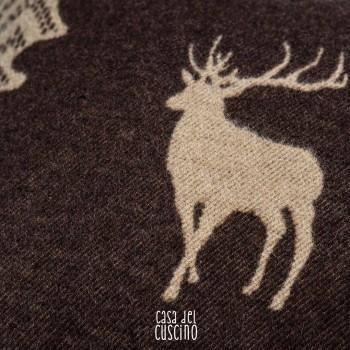 Rocciamelone cuscino arredo marrone cervo