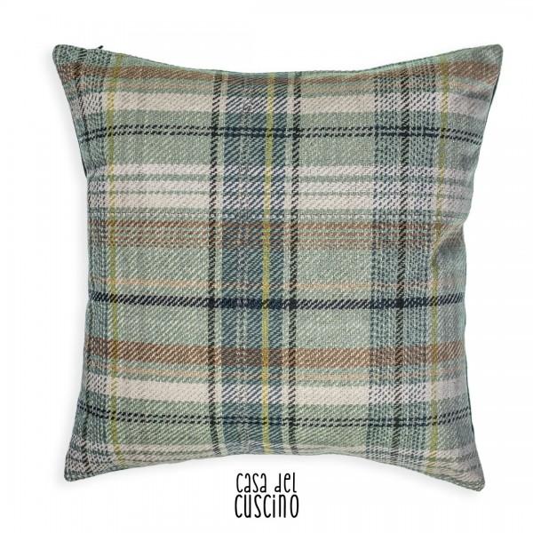 Nebrodi cuscino arredo scozzese grigio verde