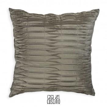 Rea cuscino arredo con pieghe in taffetà impunturate verde salvia
