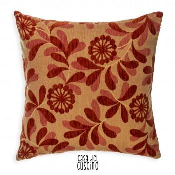 Fedra cuscino arredo motivo rosso mattone