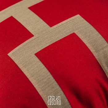 Torre cuscino arredo rosso
