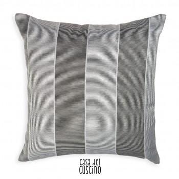 Etrusco cuscino decorativo a fasce grigio