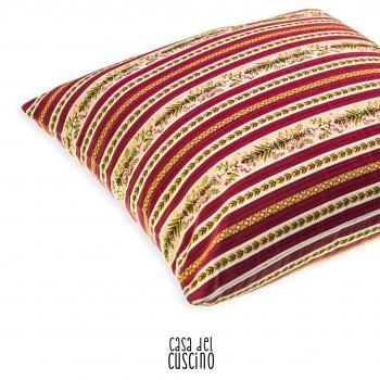Vittoria cuscino arredo classico rosso e beige