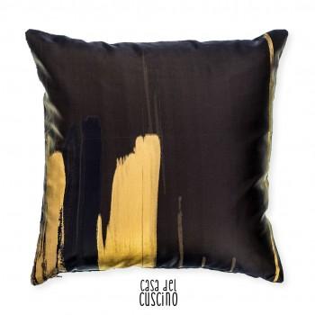 Quadro cuscino arredo moderno nero e oro