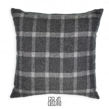 Seguret cuscino arredo grigio in lana