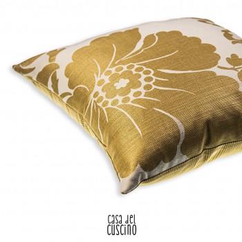 Camelia cuscino arredo ocra dorato
