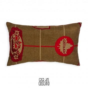 Gardena cuscino montagna rettangolare rosso e marrone