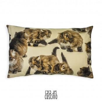 Cuscino Bizet arredo rettangolare con gattini