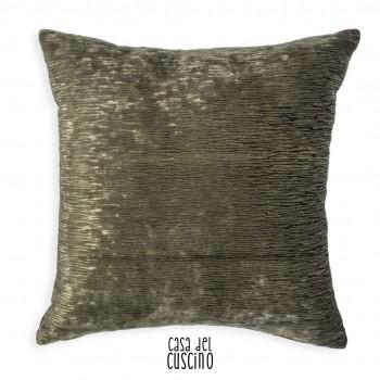 cuscino arredo in velluto operato grigio antracite lucido