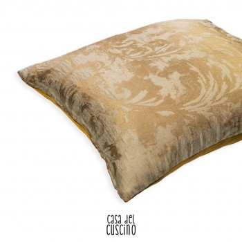 Lenora cuscino arredo con motivo ramage beige dorato su fondo avorio