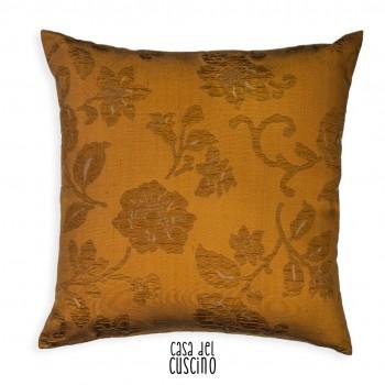 Florentina cuscino arredo color rame  con motivo floreale