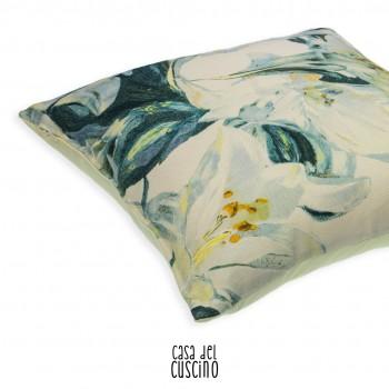 Fleur de Lis cuscino arredo con stampe floreali
