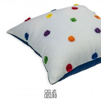Aleda cuscino arredo bianco con con con colorati