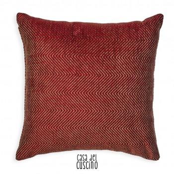 Tonale cuscino arredo chevron rosso
