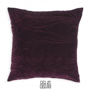 Amal cuscino arredo viola in velluto