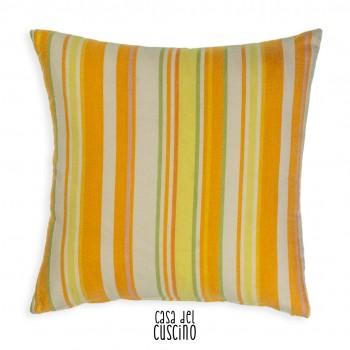 Carla cuscino arredo a righe arancio, bianco, verde
