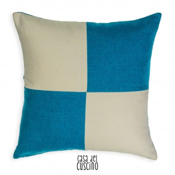 Royal Blue cuscino arredo bianco e azzurro